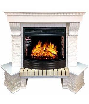 Royal Flame Pierre Luxe угл сланец белый с очагом Dioramic 25 FX